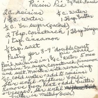 Raisin Pie 1