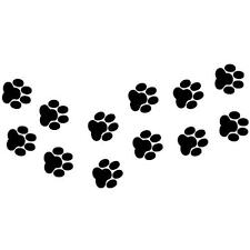 Dog paw print line